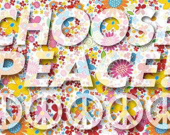 Note Cards, Peace Sign, Choose Peace!