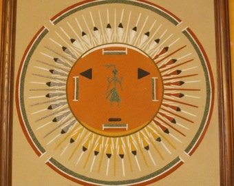 Navajo Original Sand Painting by Medicine Man, price includes shipping!