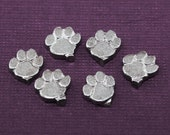 Cat Paw Charms, Dog Paw Charms, Jewelry Component, Paw Components, Metalsmiths supply, Jewelers Supplies, Jewelry Findings, Jewelry Supplies