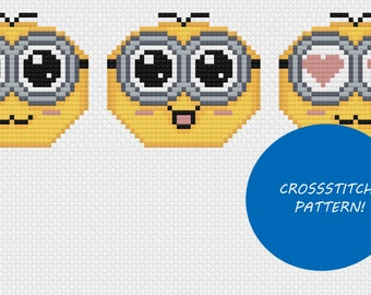 Cute minion cross stitch pattern