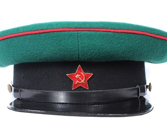 Soviet RKKA visor hat border guards NKVD of the Red army the USSR