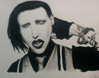 Marilyn Manson drawing
