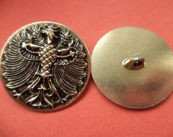 28 mm (6004) metal buttons 8 metal buttons gold