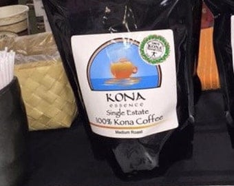 100% Kona Coffee - 1 lb. Medium Roast, Whole Beans