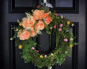 Blushing Beauty Summer Wreath