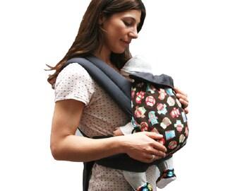 Porte bébé /Mei Tai/Echarpe de portage/Baby carrier Hiboux Maman a dit! 100% coton biologique/Biologic cotton Of the birth up to 15 kg
