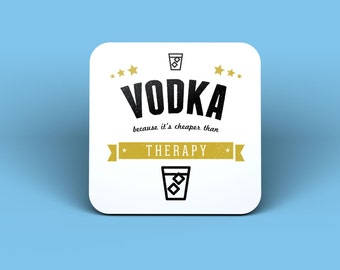 Vodka Because It's Cheaper Than Therapy Magnet
