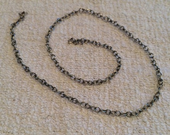 16 inch thick silver chain -necklace