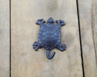 Cast Iron Turtle Coat Hook