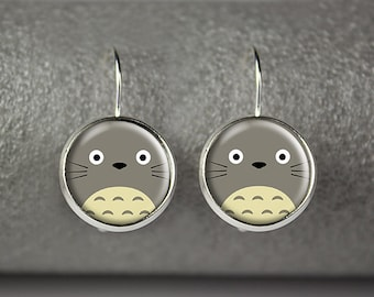 Totoro earrings, My Neighbor Totoro earrings, Totoro jewelry