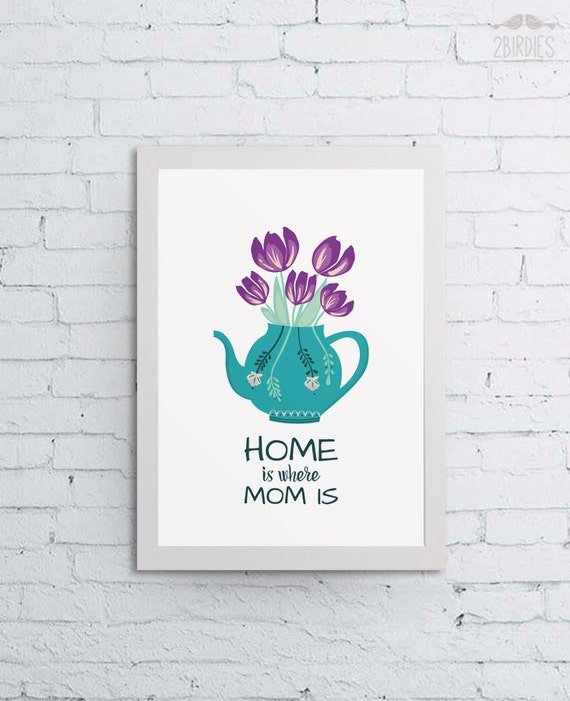 Home Is Where Mom Is Art Print Home Decor Mother 39 S Day
