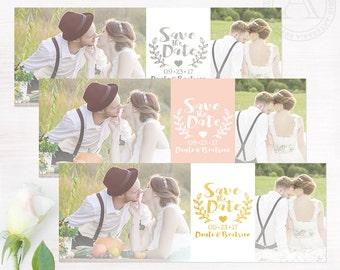 Save The Date FACEBOOK COVER PHOTO | Custom Facebook Timeline Cover | Laurels