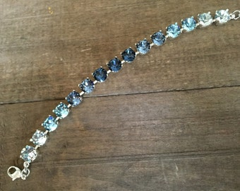 Ombre crystal bracelet
