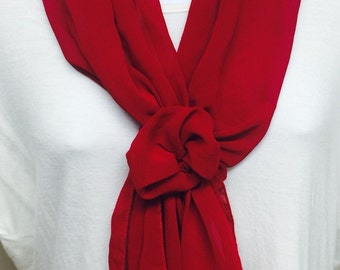 Solid Color Scarves with Velcro Closure