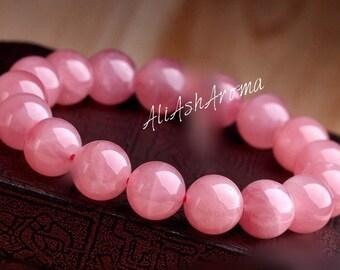 Natural cystal Pink Rose cystal stone bracelet