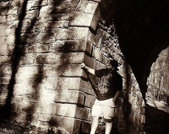 Under the Bridge-Sepia photo-ambient-atmopsheric photogrpahy