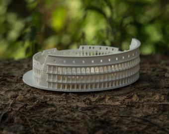 3D Printed Roman Colosseum Architectural Desk Decor Model