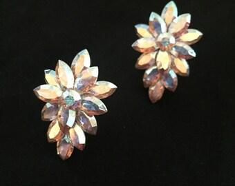 Handmade Iridescent Cluster Earrings