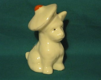 Florentine China Scottie Dog with Glengarrie - Weymouth Crest