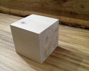 4 inch Pinyon Pine Wood Block