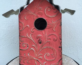 Birdhouse, Red hand made