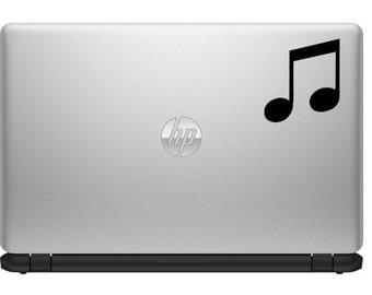 Music Note Decal, Laptop Decal, Car Decal, Decal, music not, for her, mom, for mom, music sticker, music decal, tune, tunes, I love music