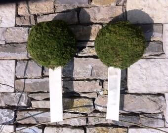 Moss spheres XL x 2