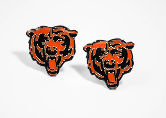 Chicago Bears Cuff Links -- FREE SHIPPING with USPS First Class Domestic Mail