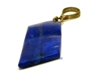 Unique  Polished Afghan Lapis Lazuli Shaped Gemstone Necklace Blue Rock