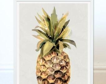 Pineapple Art Print by Green Lili