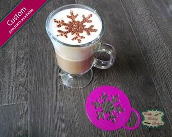Snowflake - Coffee Stencil