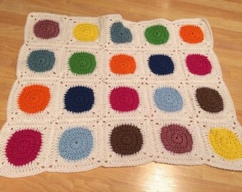 Colorful dots blanket