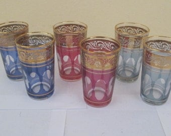 M.C.SARL France Glasses  (6 piece set)