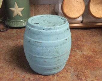 Ceramic hand painted barrell