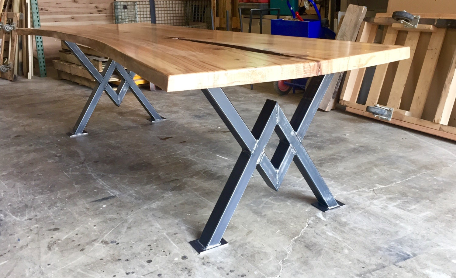 Live Edge ELM Dining Table Beautiful Conference Table