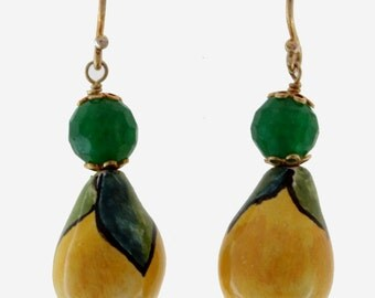 Earrings Lemon Line (# 29 MOD. 266)