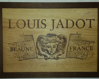Fine Wine Frames Box side. Perfect for Wine lovers