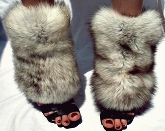 fur foot warmers spats gaiters