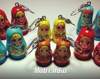 "Oreills earrings ""Matreshka"" wooden"