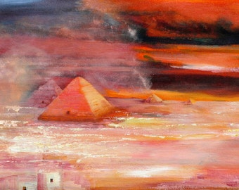 The Pyramids (oil painting)