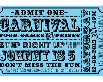 Carnival Circus Party Invitation