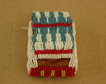 Native American Fully Beaded Cigarette Case