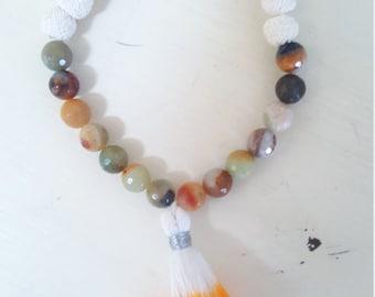 dip dye lava bead bracelet