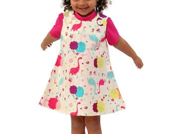 Dinosaur Love Pocket Pinafore Dress