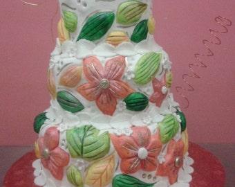 FAKE CAKE two-dimensional to wedding