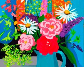 Rose and Buddleia by Sarah Gillard