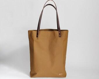 Shoulder bag Cognac / canvas / leather carrier