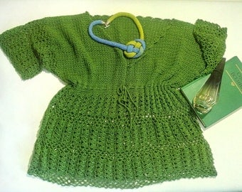 sweater, crochet sweater, tunic