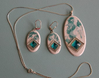 Necklace and lever back earrings - Matching SET