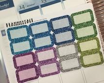 16 Glitter Half Box Planner Stickers, Erin Condren, Kikki K, Happy Planner - COOL